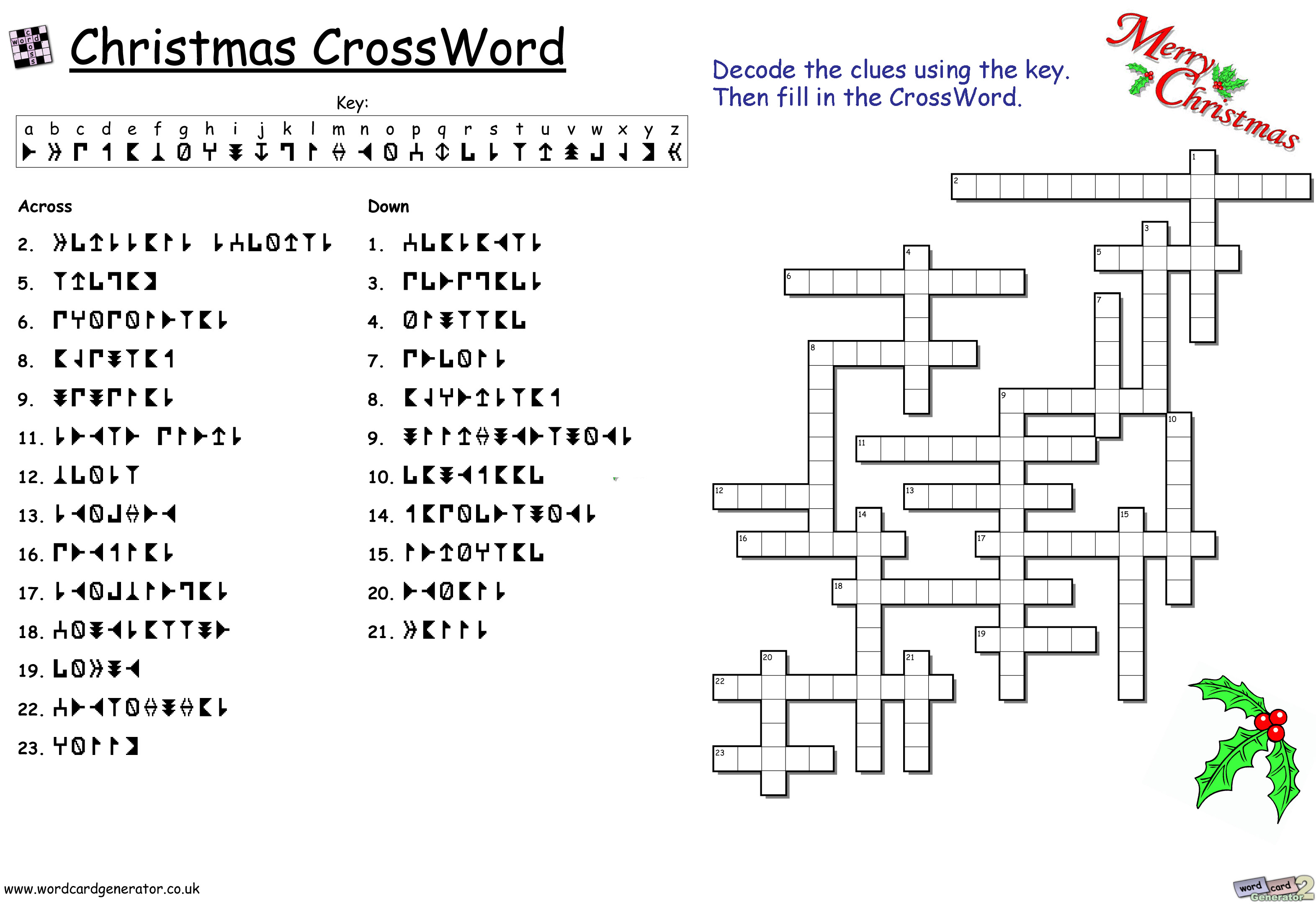 christmas crossword puzzles for adults pdf